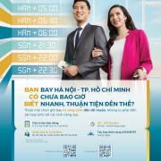 VNA mở quầy thủ tục, cửa lên máy bay riêng cho khách bay giữa Hà Nội và TP Hồ Chí Minh